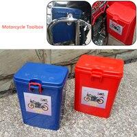 ABS Motorcycle moto Bumper Engine Bag Trunk Saddlebags Saddle Bag Trunk Sade Case + Latch Keys Motorbike Side Toolbox Tool box
