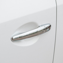 цена на ABS Chrome Car door protector Handle Decoration Cover Trim 8pcs For Mazda 2 Demio DL Sedan DJ Hatchback 2015 2016 2017