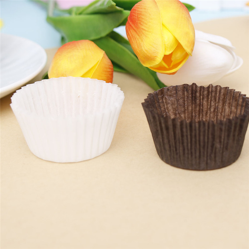 100 Pcs/Set Small Muffin Cupcake Paper Cups DIY Cake Forms Cupcake Liner Baking Muffin Cases Cup Pastry Tray Cake Mold