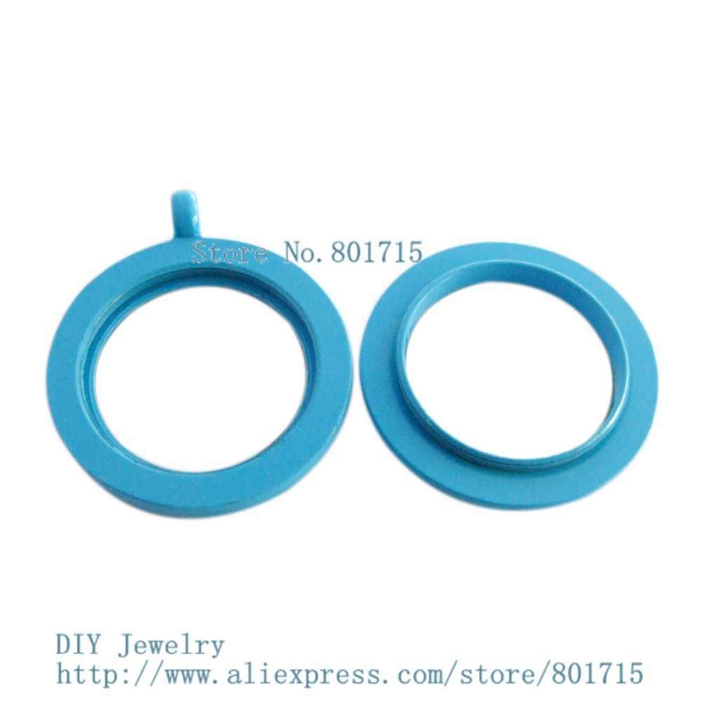 2016 đồng bằng sơn 30 mét dark blue Vòng twist threaded vít top mề đay fit charms có thể make vòng cổ vòng keychain