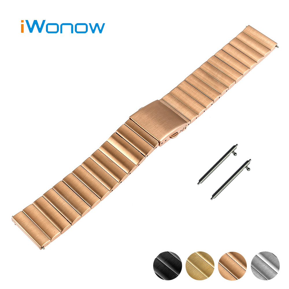 Stainless Steel Watch Band 22mm 23mm for Mido Quick Release Strap Folding Buckle Wrist Belt Bracelet Black + Spring Bar + Tool stylish 8 led blue light digit stainless steel bracelet wrist watch black 1 cr2016