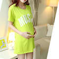 Письмо печатные топы уход беременность футболки хлопка печатные одежда для беременных футболку роковой 2016