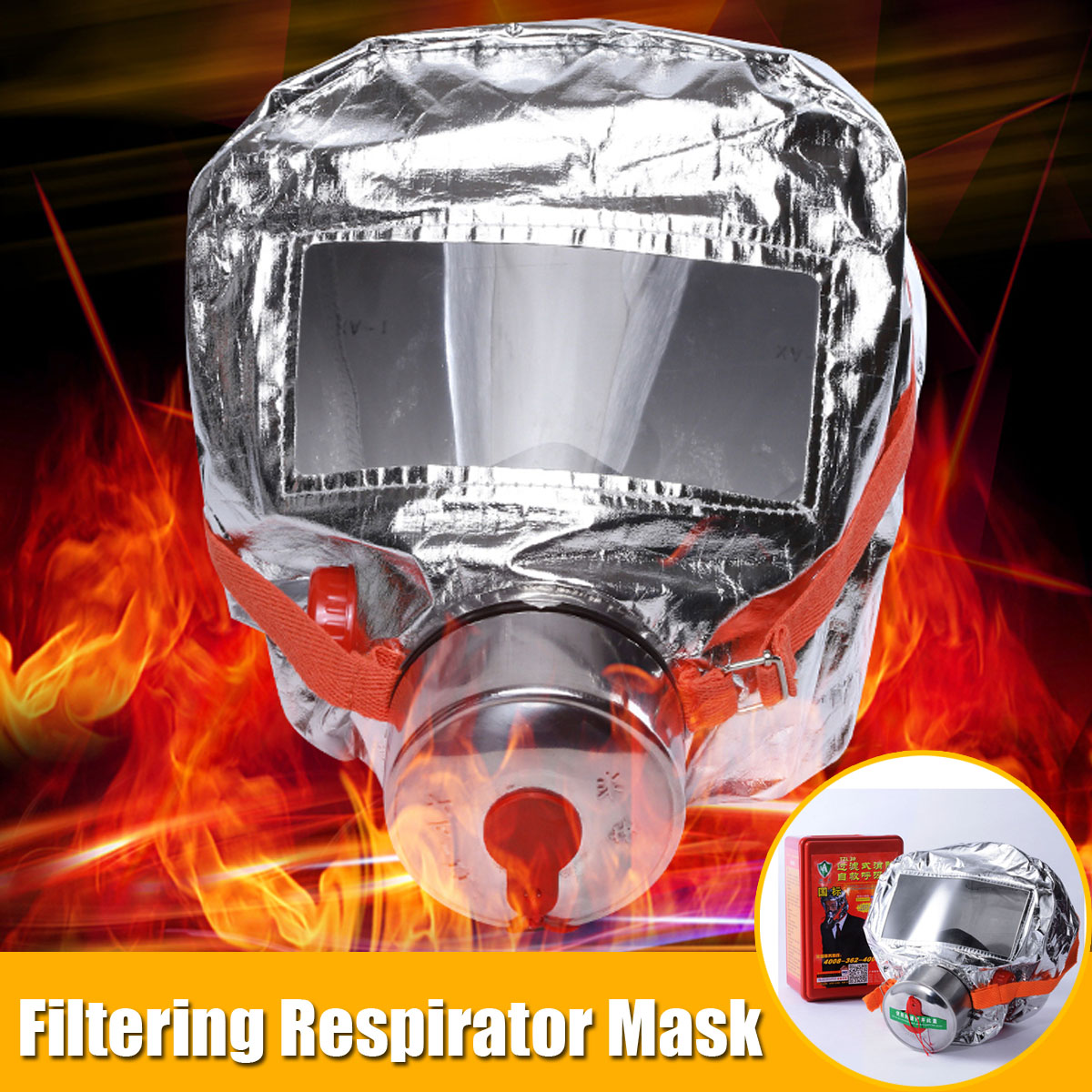 30 Minutes Fires Emergency Escape Mask Oxygen Smoke Gas Self-life-saving Smoke Toxic Filter Emergency Escape Respirator Mask