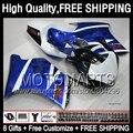8Gift+ For SUZUKI Blue white RGV250 VJ22 90-95  67JK5 GRV VJ22 RGV 250 Stock blue blk VJ 22 90 91 92 93 94 95 1990 1995 Fairing