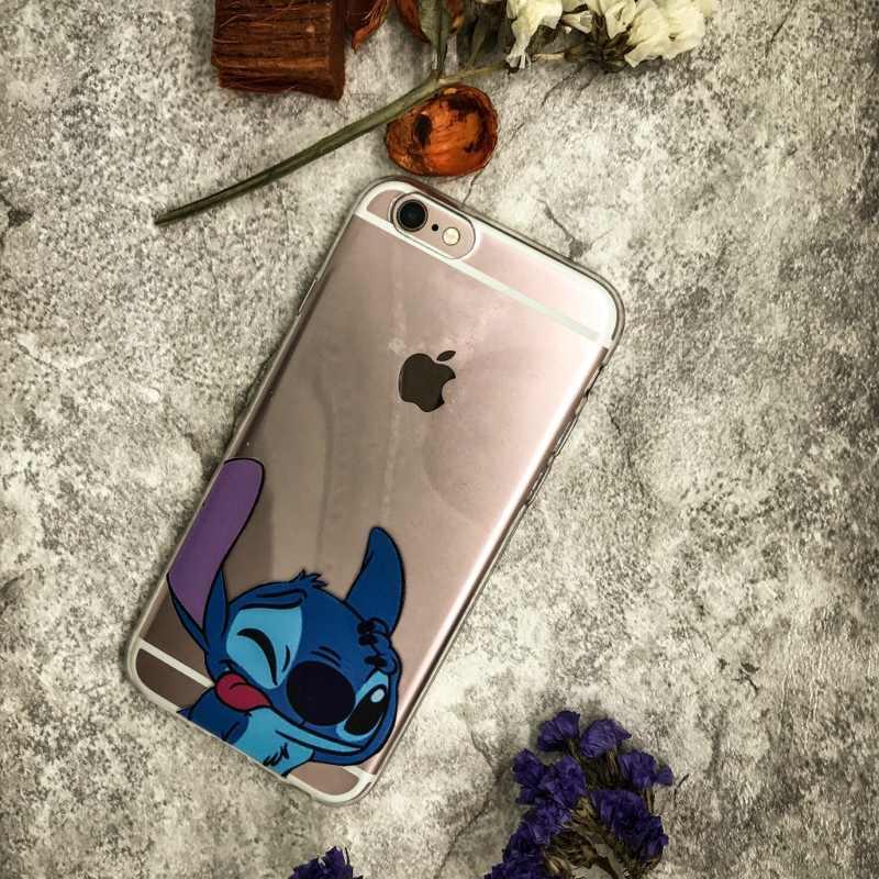 Divertido puntada caso de TPU suave Carcas caja del teléfono para iphone 7 Capa Funda Coque iphone 5 5S SE 6 6 s 7 8X7 8 plus de silicona