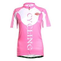 Tvsss розовый Для женщин летние шорты рукавом Профессиональный Велоспорт Рубашка удобная Ткань Спортивная велосипед Джерси цикла Костюмы