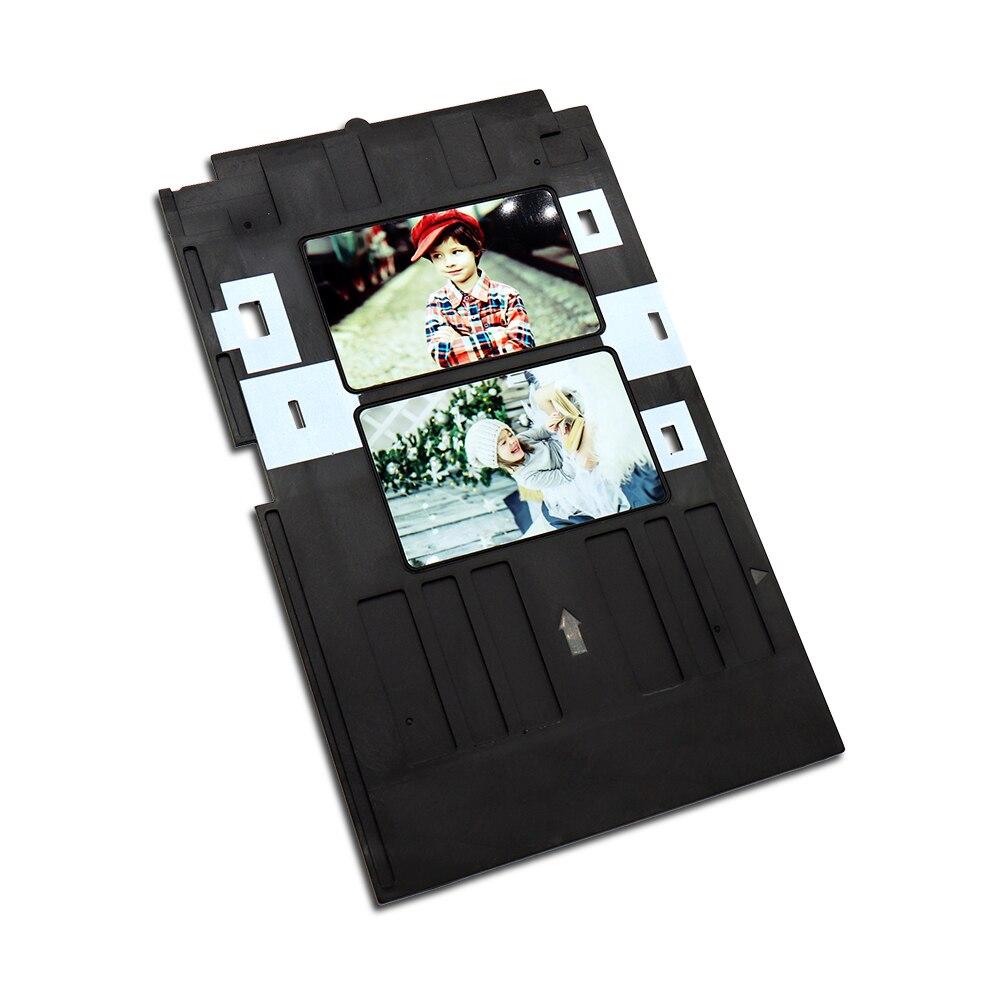 Bilgisayar ve Ofis'ten Yazıcı Parçaları'de Mürekkep püskürtmeli PVC KIMLIK Kartı Tablası Plastik Kart Tepsisi Epson P50 T60 R90 R330 R390  r330 L800 L801 L805 Px700w  Px800FW  Px665  px660