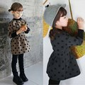 Spring and Autumn kids clothes 2015  baby girls long-sleeved  sweater Korean Dot fashion Jacket princess Qunshan