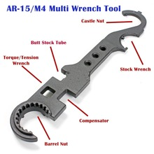 AR-15/M4 Steel Armorer's Wrench for Removal and Installation of AR-15/M16 Barrels/AR15/M4 stock combo wrench
