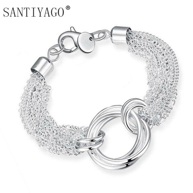 les mieux notés livraison gratuite les ventes chaudes € 1.87 49% de réduction Bracelet à chaîne de couleur argent pour femmes  filles mode multi couches bracelets et bracelets liens Bracelet femmes dans  ...