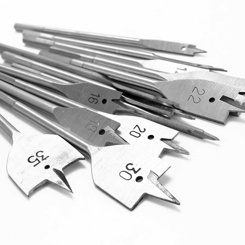 13 adet düz maça matkap uçları seti Metal ucu kiti Hex Shank ağaç İşleme aleti aksesuarları