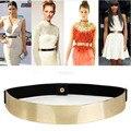 1 Unid Sexy de Señora Women Elástico Espejo Metal Correa de Cintura Metálica Bling Oro Plata Banda Ancha para Mujeres Mujer Accesorios Vestido caliente