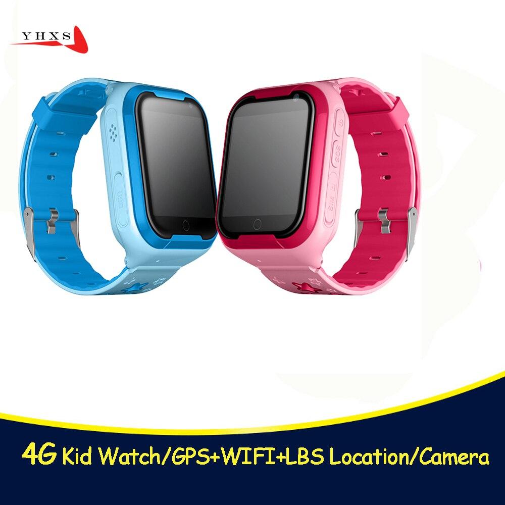 Умные часы детский безопасный монитор gps трекер дети Android IOS водостойкие Детские SOS удаленный монитор камера SIM сеть 4G наручные часы