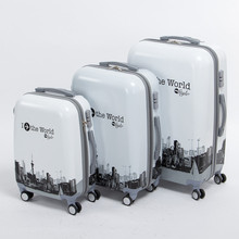 Lady and boy 20 24 28inches(3pieces/set) trend hardside trolley baggage set,pure the world journey journey baggage baggage on wheels