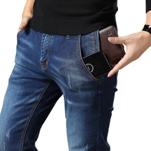 Heren Regular Fit Jeans Kleding Plus Mannelijke Herfst Elastische Stretch Denim Straight Leg Classic Cowboy Broek Big Size 40 42 44 46 48
