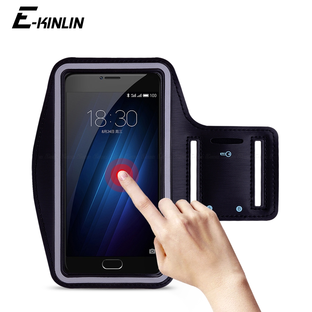 Waterproof Running Sport Gym Arm Band For Meizu U20 U10 M3s M3 Note Mini Max M3x M3e MX6 MX5e MX5 Phone holder Case Cover