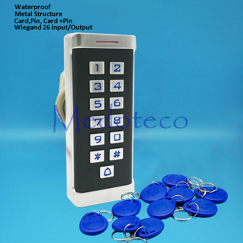 Metal Keypad RFID Access Control System 125khz Proximity Card Standalone 2000 Users Door Access Control Waterproof Metal Case wg input rfid em card reader ip68 waterproof metal standalone door lock access control with keypad support 2000 card users
