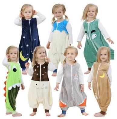 7 Styles Children's Sleevesless Sleeping Bag Flannel Baby Lovely Cartoon Baby Girls Pajamas Baby Sleeping Baby Boys Sleepsacks