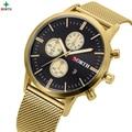 NORTE de la Nueva Marca hombres de Negocios Reloj de Glod Ultra Delgado de Acero Inoxidable Reloj de pulsera de Cuarzo Reloj Relojes de Moda de Lujo Reloj de Los Hombres
