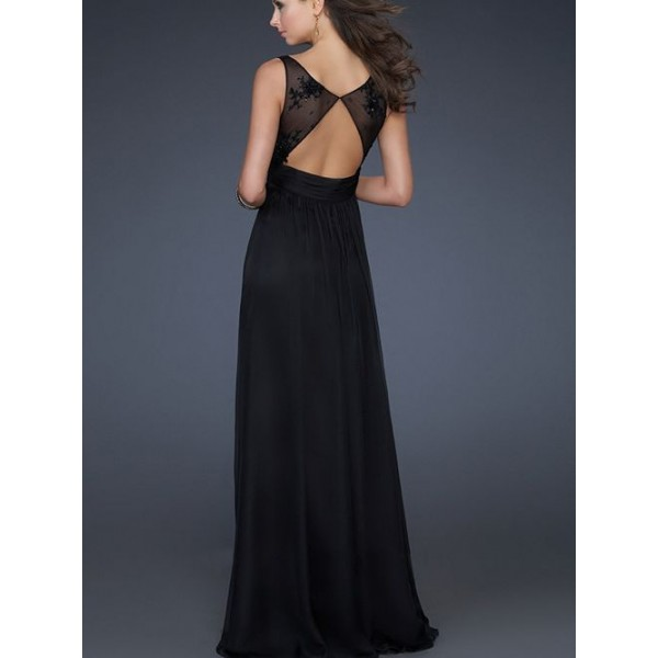 Aliexpress.com : Buy 2015 Sexy long black beadeds evening gowns ...