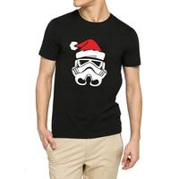 Mens Star Wars Santa Hat Funny Graphic Christmas Gift Casual T Shirts Men Tee