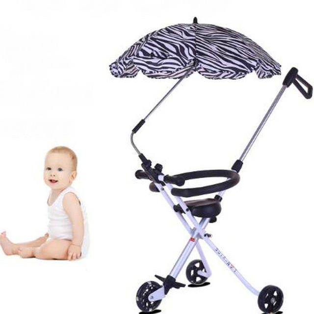 2017 new hot latest fold baby stroller super light 3wheels baby cart with safety fence fashion comfort stroller