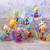 9pcs/set Vegeta Gohan Frieza Broly Son Goku Gokou Dragon Ball Super WCF Burst World Collectable Hero Figure Model Toys