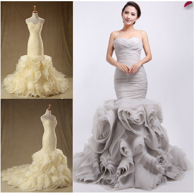 Champange red white ivory gray wind red blue pink organza for Pink and blue wedding dresses