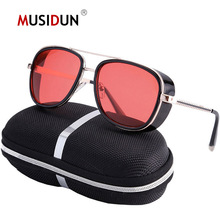Tony Stark Iron Sunglasses Man Brand Cats eye Punk Sun Glasses Vintage amjune male 3 Matsuda Steampunk Q109