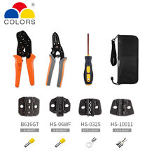4 Jaws multitool Wire Crimpers Engineering Ratcheting Crimping Pliers Strippers Tool Cord End Terminals Kit