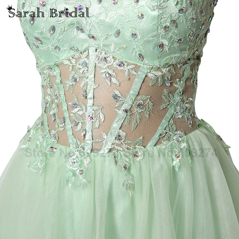 Real Photo Short Sexy Lace Graduation Dresses Homecoming Dresses Crystals Mini Sweetheart Cocktail Dresses 2015 In Stock SD227