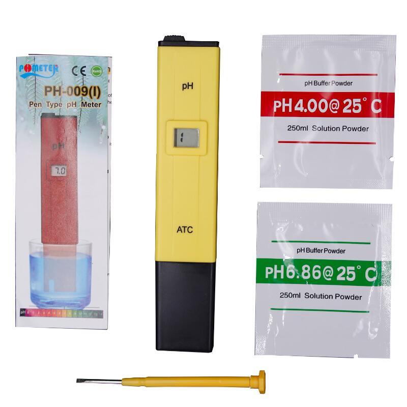 Pocket Pen type Water PH Meter Digital Tester PH-009 IA 0.0-14.0pH for Aquarium Pool Water Laboratory 20%off