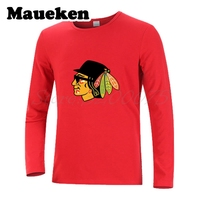 Men Top Quality Chicago Blues Brothers Go Blackhawks Autumn Winter Long Sleeve T Shirt W1120108