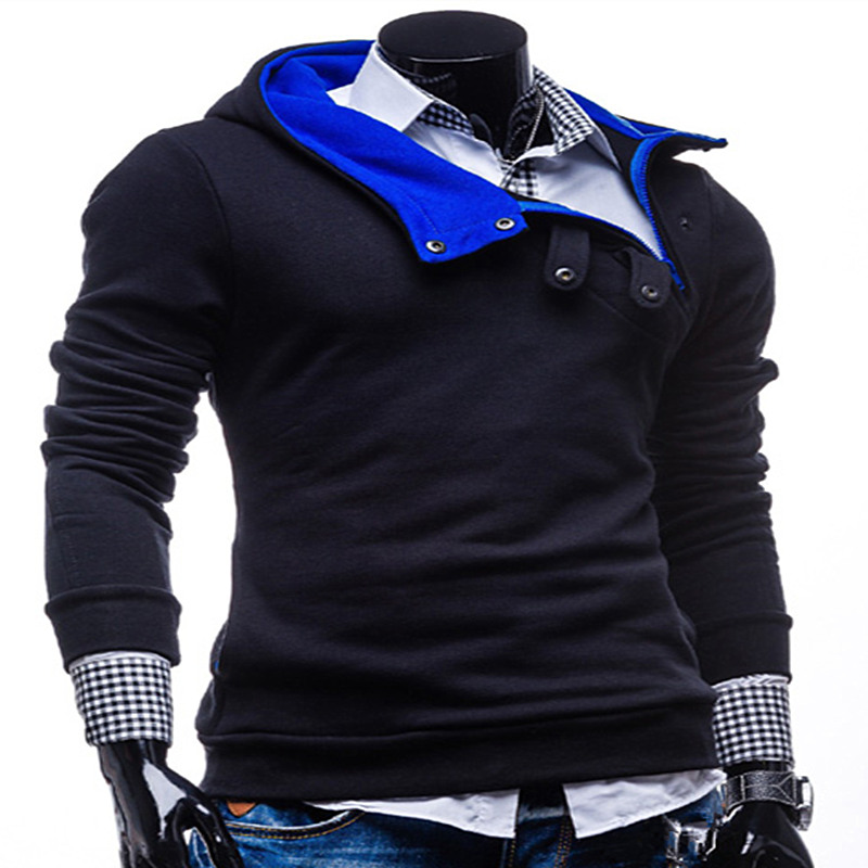 2017 Sell like hot cakes fashion Men mens fleece jacket sets mens hooded fleece pure color casual wear tight clothes
