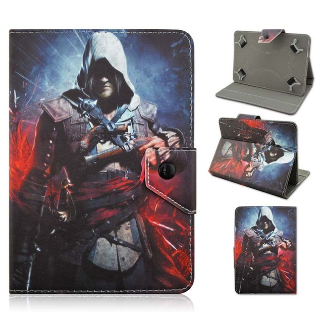 "High Quality Pretty Assassin's Creed Print Durable 10 inch Universal Folio Fold PU Leather Cover Case For 10"" IOS Android Tablet"