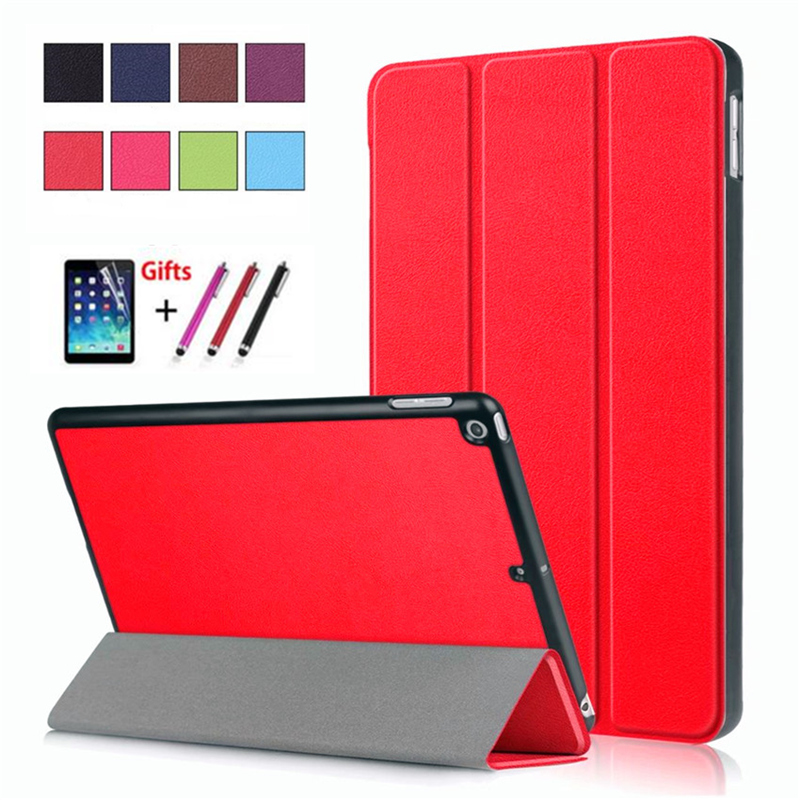 Case for New iPad 9.7 2018 6th generation Smart Cover funda tablet for iPad Model A1822 A1893 Hard Back PC+PU Skin Stand Shell