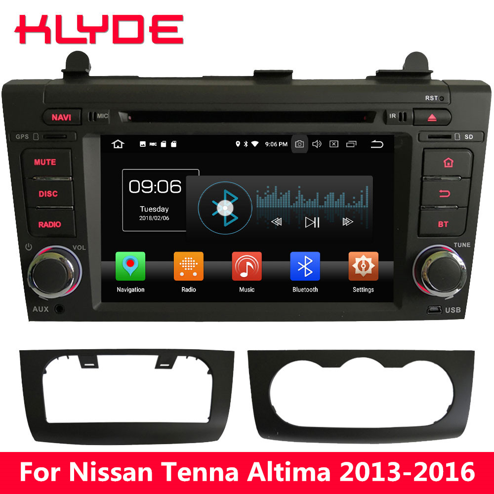 KLYDE 7 4G WIFI Android 8.0 Octa Core PX5 4GB RAM 32GB ROM Car DVD Multimedia Player Stereo For Nissan Tenna Altima 2013 2016