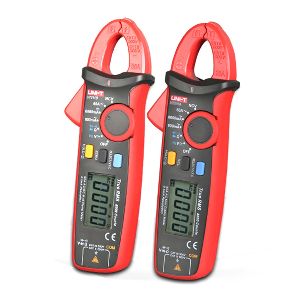 1pcs UNI-T UT211B 60A High Resolution LCD True RMS Clamp Meters W V.F.C. NCV Test & Zero Mode Multifunction Multimetro