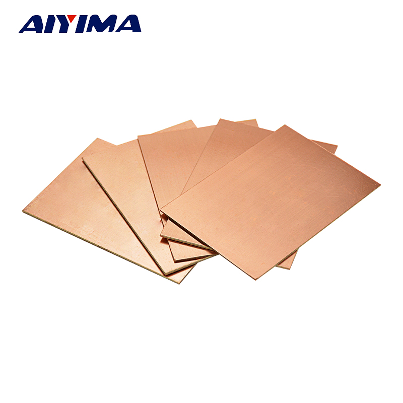 5pcs one-side single side copper clad 70*100*1.6mm brassboard Single Side Copper plate PCB Board цена и фото