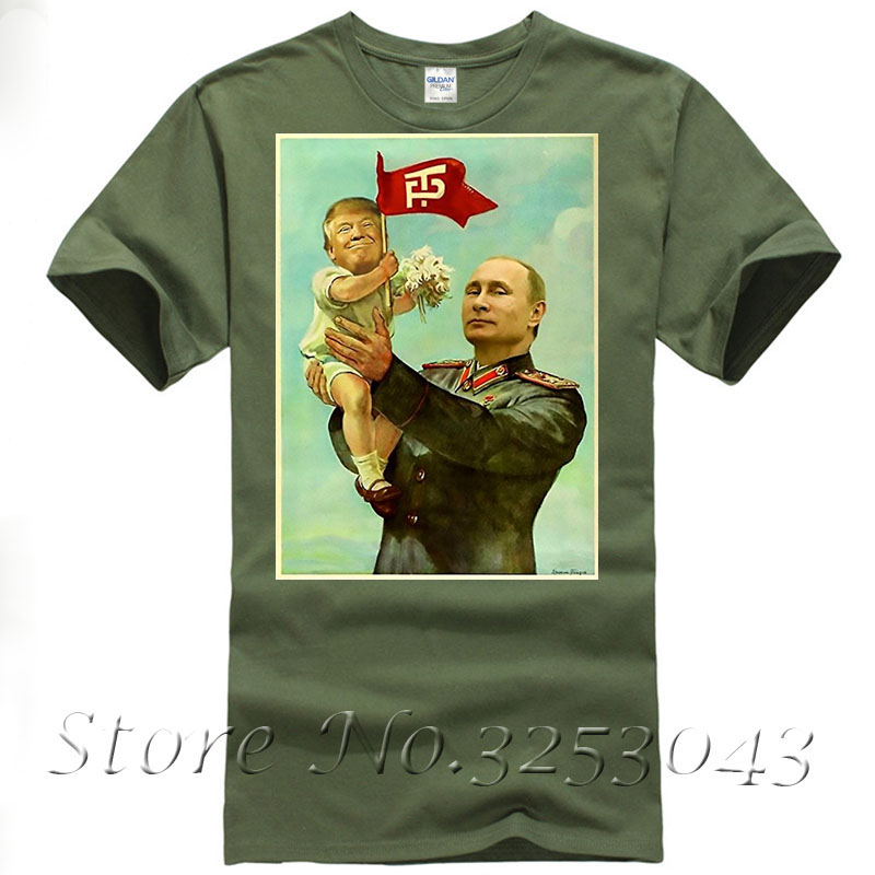 Funny Baby Trump Putin 9 Colos For Choice 2017 T Shirt