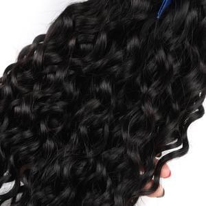 Image 5 - Alisky מלזי מים גל שיער 4 חבילות עם סגירת 100% שיער טבעי סגירת יד קשורה רמי שיער התיכון/משלוח/שלושה חלק גבוהה