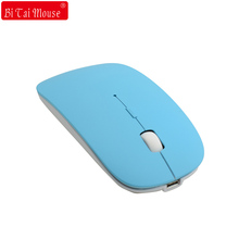 Ультра тонкий Беспроводной Bluetooth 3.0 Оптический Мышь Перезаряжаемые 1600 Точек на дюйм регулируемый Портативный игровых мышей для Планшетные ПК смартфонов