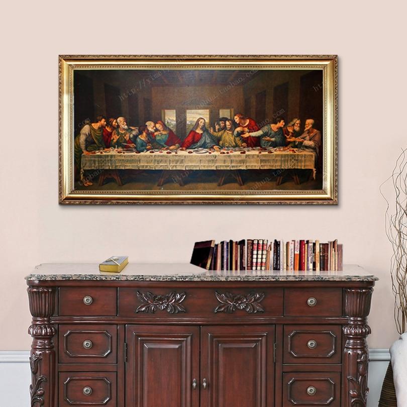 Ježíš Kristus caudros dekorace Da Vinci Plakát a večeře Poslední večeře na obrazy na plátně pro domácí dekoraci tisků4