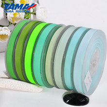 YAMA Grosgrain Ribbon 25 28 32 38 mm 100yards/lot Light Dark Green for Diy Gifts Packing Decoration Crafts Woven Ribbons