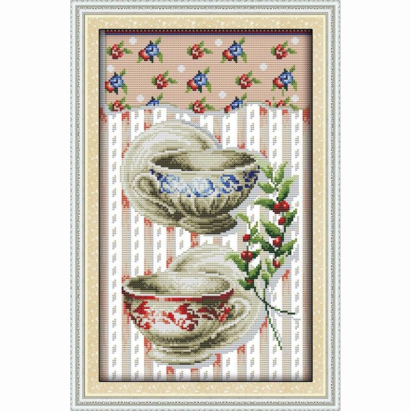 Vajilla cocina decoración restaurante pintura DIY contó la impresión ...