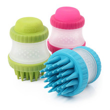 Dog Bath Brush Comb Cleaning Massage Cat SPA Shampoo Grooming Multifunction Silicone Pet Tools for