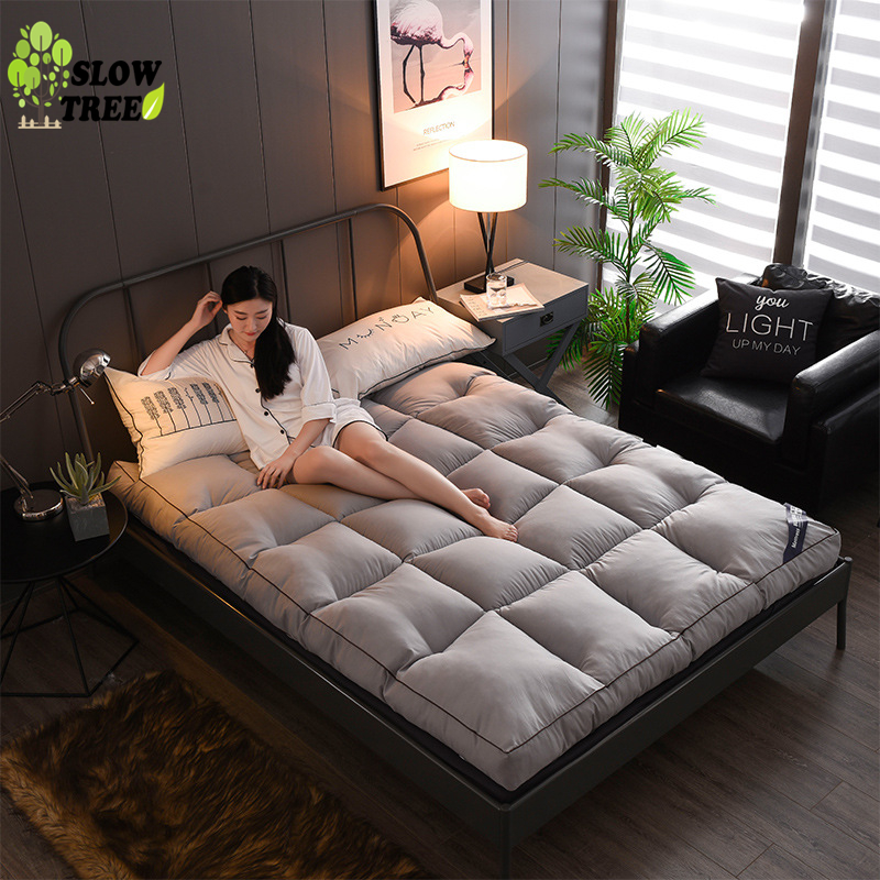 Lent arbre Tatami matelas épaissi doux tapis tapis économie 1.8M Double étage tapis de couchage pliant tapis paresseux coussin feuille
