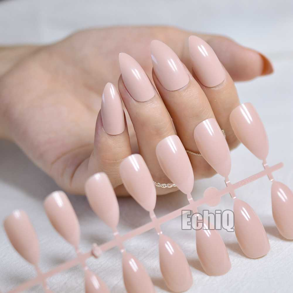 Detail Feedback Questions About 24pcs Almond Design Nail Tips Kit