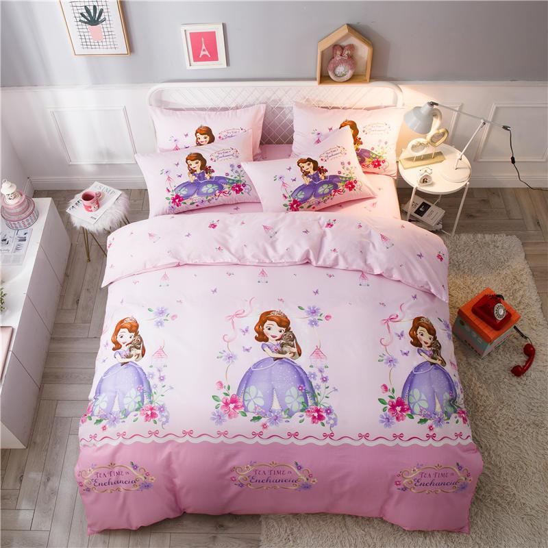 3d Disney Sofia Princess Bed Linen Single Twin Queen Full Size