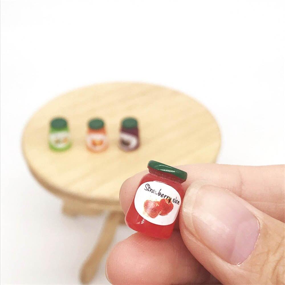 4pcs//set Dollhouse Miniature 1:12 Kitchen Food Jam Coffee Condiment DIY Decor/_fr